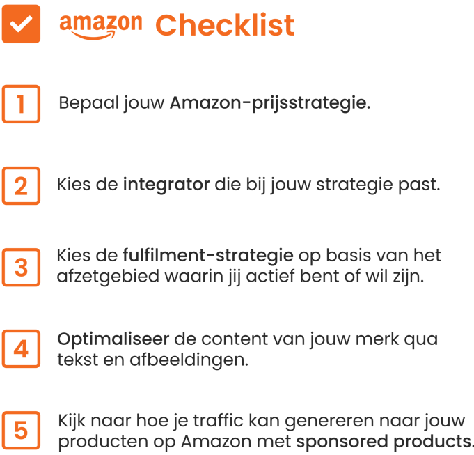 Brandsom Amazon checklist, Amazon checklist